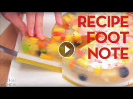 recipe footnote agar agar fruit cake thai kitchen