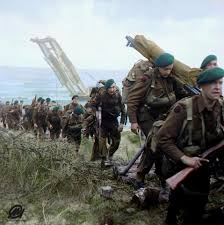jaw dropping colourised photos bring the d day landings to life