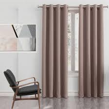Curtains 240cm Drop Ready Made Bond Pinch Pleat 250cm Drop Room Darkening Curtains Latte