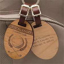 wooden personalized gifts engraved wood golf bag tags classic golfer