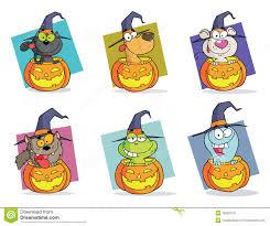 cartoon haloween pictures cartoon halloween characters set stock photos image 15552753