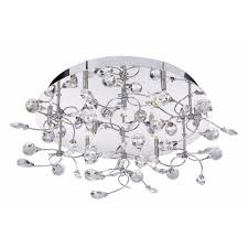 electric sonja 6629 9cc chrome with crystal detail semi flush