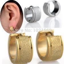 mens huggie earrings 2pc sliver gold huggie hoop earrings surgical stainless steel