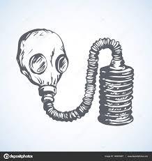 vector drawing gas mask u2014 stock vector marinka 145670987