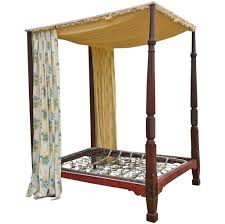 Four Poster Bed Frame Queen by Vintage Four Poster Bed Frame With Floral Curtains Queen Wood And