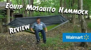 walmart equip mosquito hammock review youtube