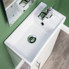 Gloss White Vanity Unit Gloss White Floor Standing Vanity Unit With Basin 400mm
