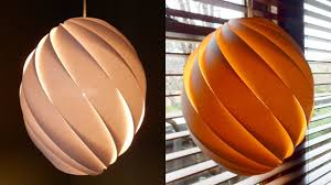 Paper Pendant Lights Swirl Pendant Lamp How To Make A Spiral Paper Lampshade Lantern