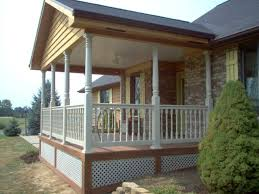 custom archadeck open front porch with fiberon composite decking