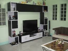 living awesome black and white simple tv stand units design for