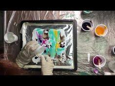fluid acrylic pour and dip painting is oddly satisfying paint