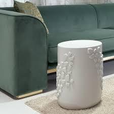 Ceramic Side Table Contemporary Italian Designer White Ceramic Side Table Juliettes