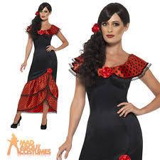 Sizzling Senorita Womens Spanish Dancer Halloween Costume