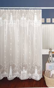 lighthouse curtain shower curtain