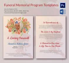 memorial program templates 5 funeral memorial templates free word pdf psd documents