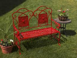 refurbished metal garden bench project outdoor spray paint