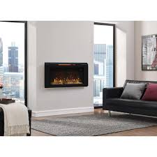 classic flame helen 36 in wall mount electric fireplace in black