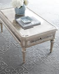mirrored end table set the coffee table reece modern mirrored top glass and throughout