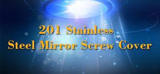 Decorative Stainless Steel Screws Decking Screws Decorative Mirror Glass Stainless Steel Cap