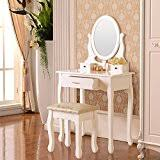 amazon com makeup vanities u0026 vanity benches bedroom furniture