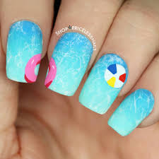 53 trendy pool party nail art designs to try this summer