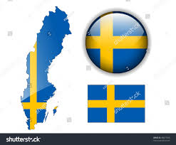 Sweden Flag Image Sweden Swedish Flag Map Glossy Button Stock Vector 48077059