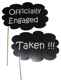 engagement photo props engagement theme officially engaged photo prop untumble