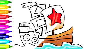 how to draw pirate ship coloring pages and boat coloring pages for
