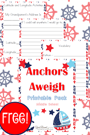 free nautical unit study and printables middle year