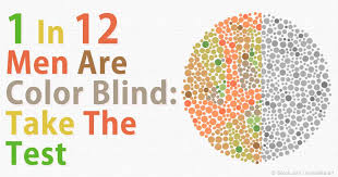 one in twelve men are affected with color blindness