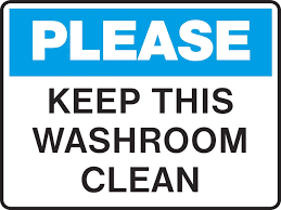 Signage For Comfort Rooms Bathroom Bathroom Cleanliness Signs Bathroom Cleanliness Signs
