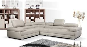 Gray Leather Sectional Sofa by 2119 Sectional Sofa In Light Grey Leather By Esf