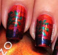 sunset nail art using a fan brush set in lacquer