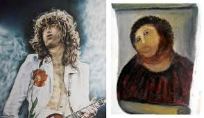 Oil Painting Meme - image tagged in jesus jesus christ jimmy page painting oil painting