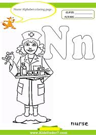 letter n coloring pages of alphabet words for kids preschool page