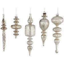 antiqued glass finial ornaments seasonal wisteria polyvore