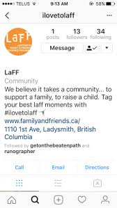 email instagram support laff joins instagram ladysmith family and friends resources