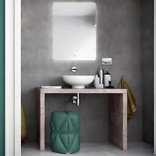 mensola lavabo da appoggio composizione bagno con mensole stile industrial 90 cm lavabi d