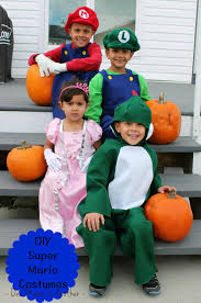 diy children u0027s super mario halloween costumes