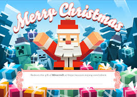where to buy minecraft gift cards giving the gift of minecraft do it with festive style