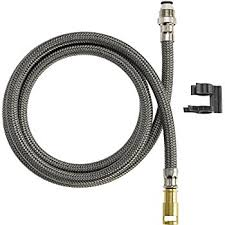 grohe kitchen faucet replacement hose hansgrohe 88624000 pull kitchen faucet hose chrome faucet