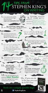 best music to write a paper to tell your story writing tips from stephen king infographic