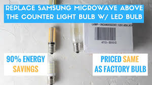 microwave light bulb led replace microwave light bulb w an affordable led bulb and