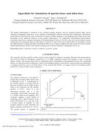 algorithms for simulation of speckle laser and otherwise pdf