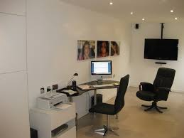 beautiful garage home office design finished upstairs of barn