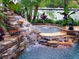 rock waterfalls for pools swimming pool photos of waterfall swimming pools
