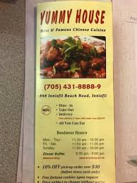 Chinese Buffet Hours by Yummy House Chinese Restaurant Chinese 898 Innisfil Beach Road