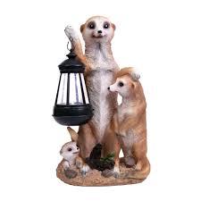 buy garden kraft novelty meerkat solar light