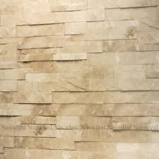 1roll off white cream stacked brick stone faux realistic pvc