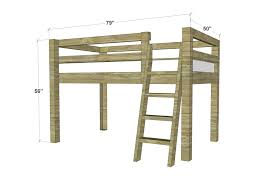 Diy Loft Bed With Desk by Free Woodworking Plans To Build A Twin Low Loft Bunk Bed The